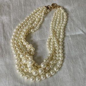 J.Crew Pearl Multistrand Necklace